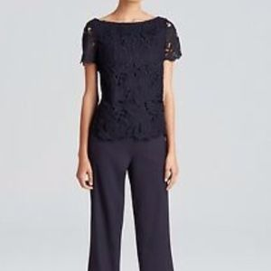 TORY BURCH AVALON LACE JUMPSUIT. SIZE: 0.